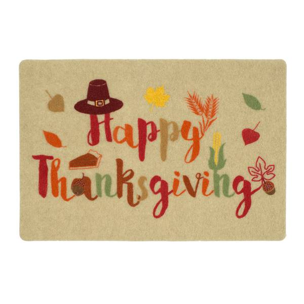 Thankful Pilgrim Printed Rug
