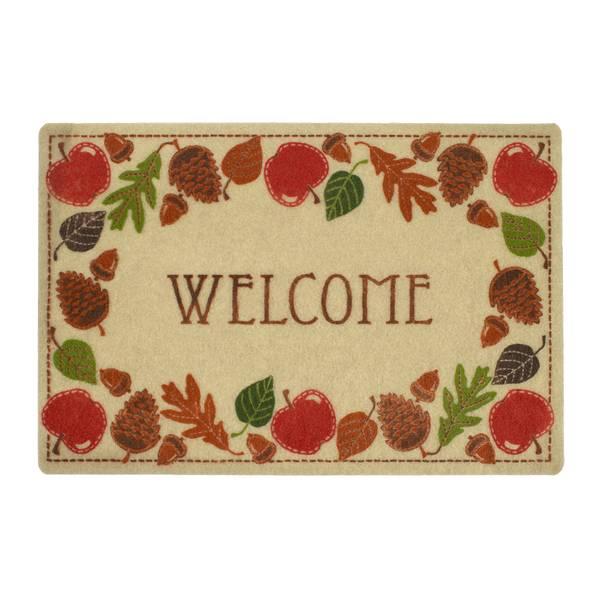 Apple Wreath Welcome Printed Rug