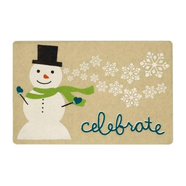 Celebrate Snowflakes Printed Rug