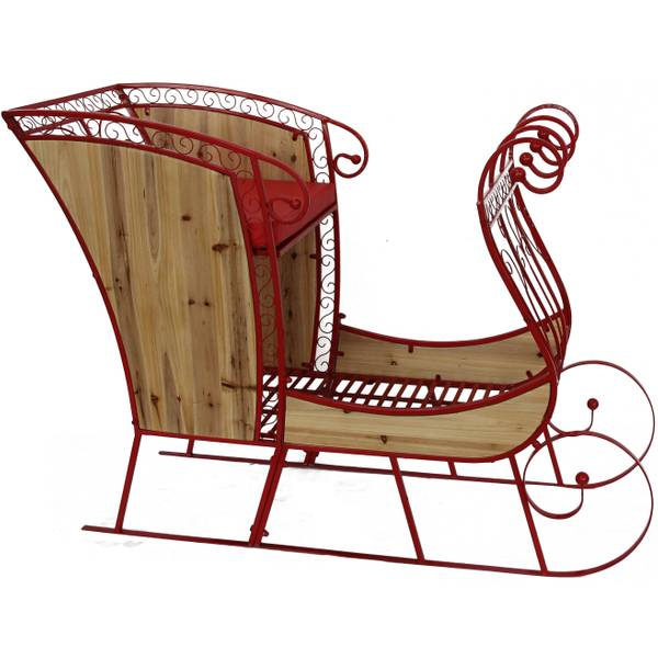 Metal and Wood Sleigh