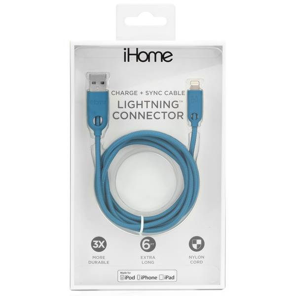 6' Dual Lightning Cable Teal