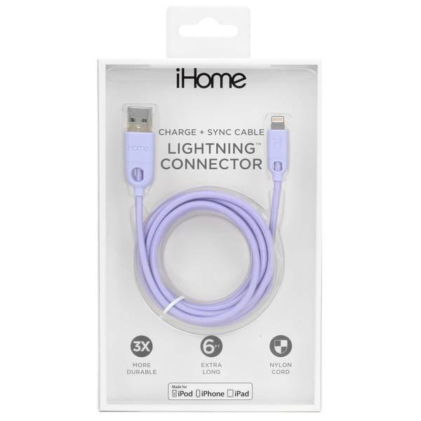 6' Dual Lightning Cable Pastel Purple