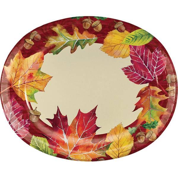 Fallen Leaves Oval Platter 8 ct