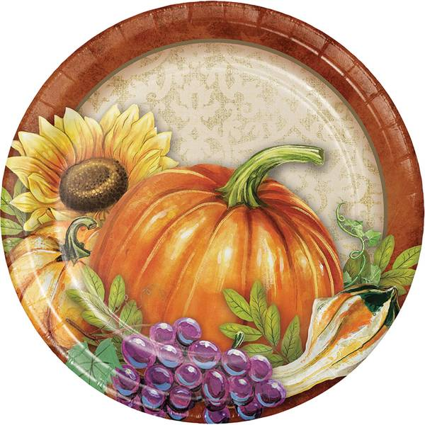 "Bountiful Luncheon 7"" Plate 8 ct"