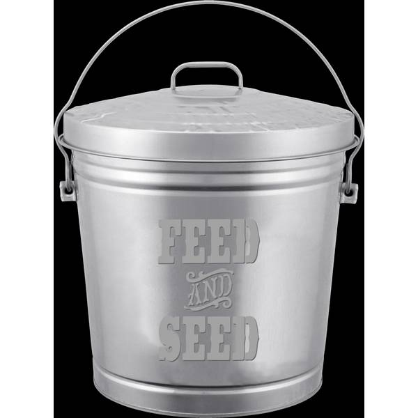 10 Gallon Embossed Feed & Seed Storage Can