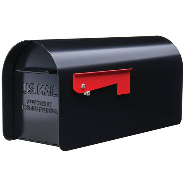 Ironside Post Mount HD Mailbox-Black