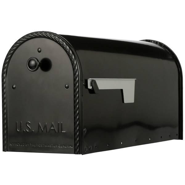 Post Mount Mailbox-Black