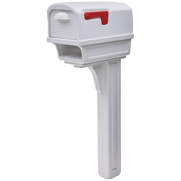 Gentry Mailbox and Post Combo-White