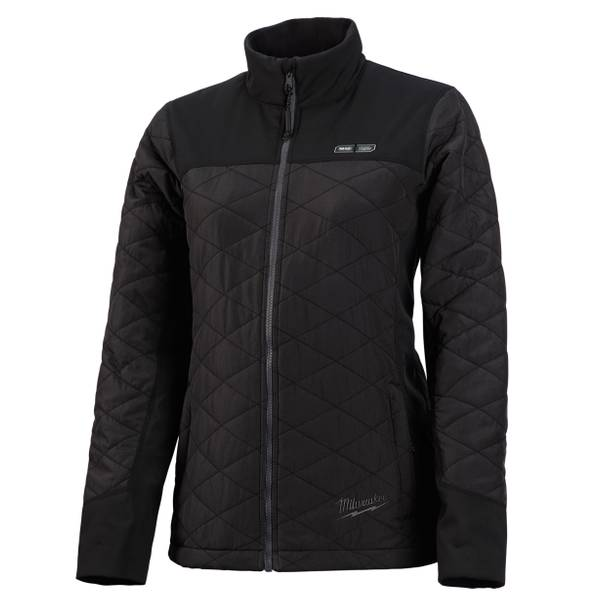Milwaukee Womens M12 Black Heated Quilted Jacket