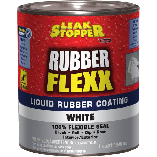 1 Quart Rubber Flexx Liquid White Sealant