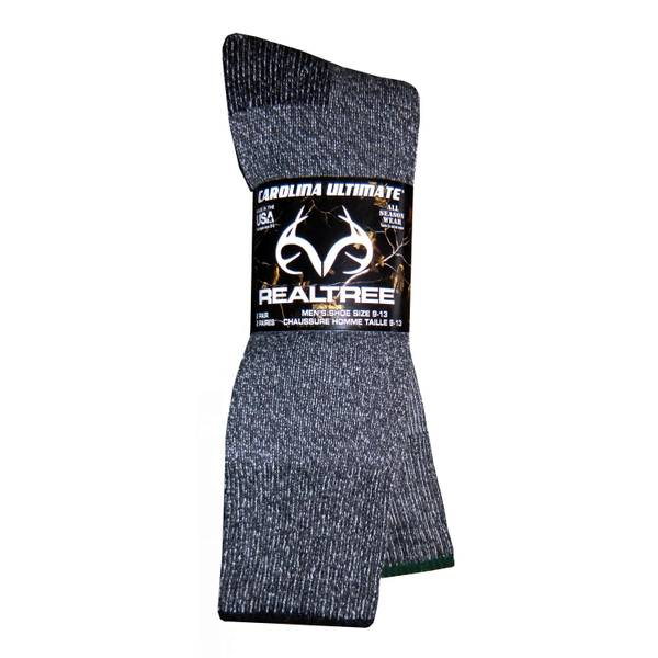 Realtree Men's Marl Wool Blend Boot Socks