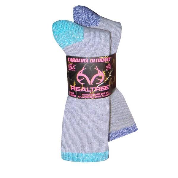 Realtree Women's Merino Wool Blend Boot Socks