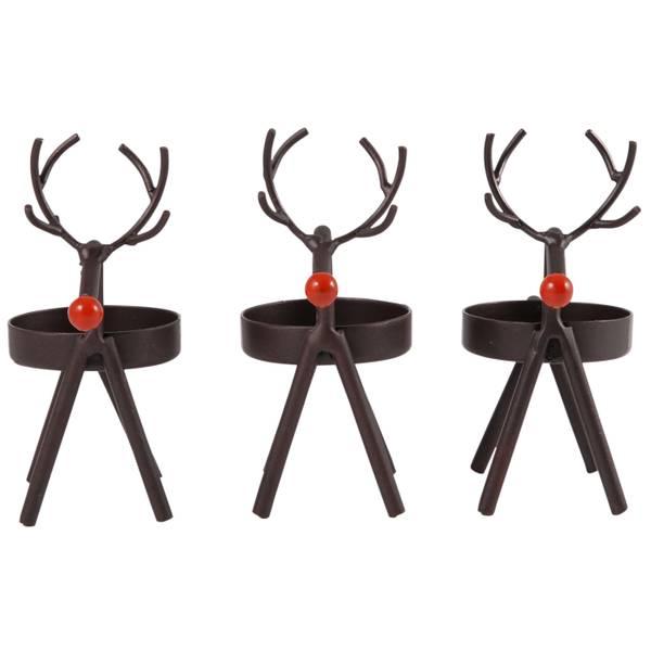 3-Piece Baby Reindeer Tea Light Set