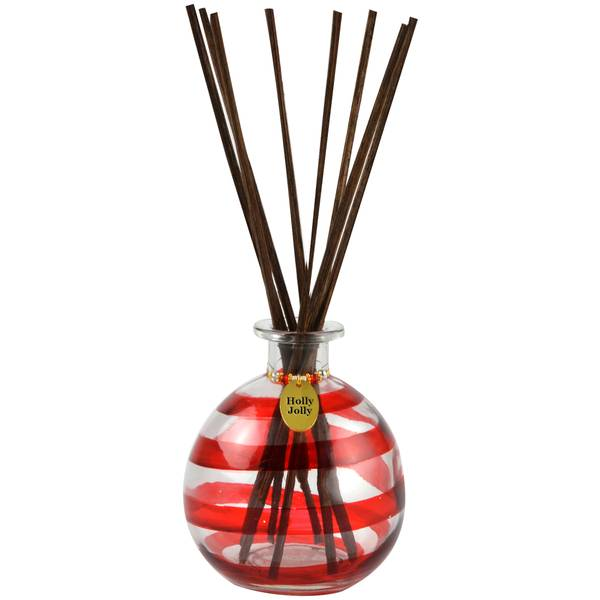 Holly Jolly Hand Painted Reed Diffuser