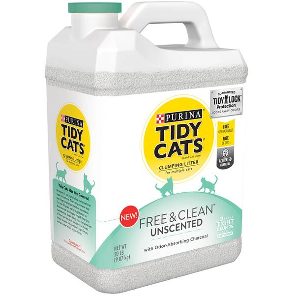 20 lb Fresh & Clean Unscent Clumping Litter