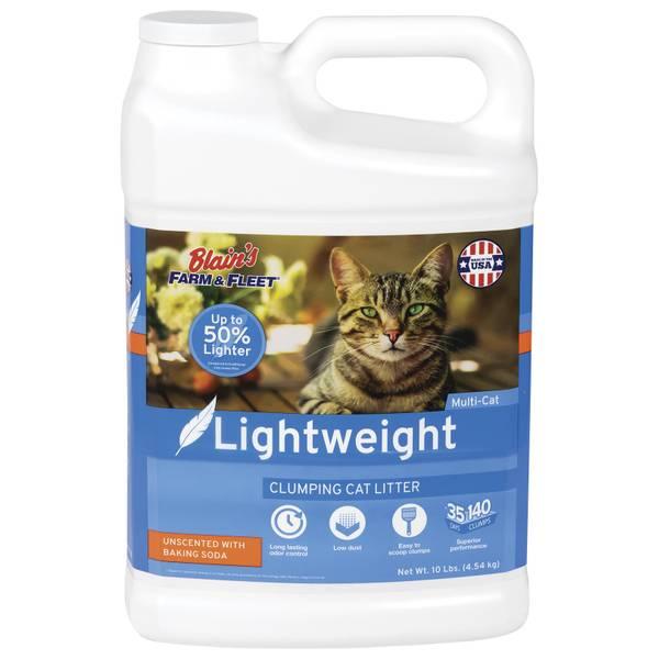 10 lb  Lightweight Cat Litter with Baking Soda