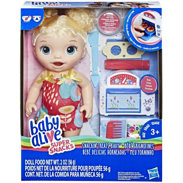 Baby Alive Snackin Treat Blonde Baby