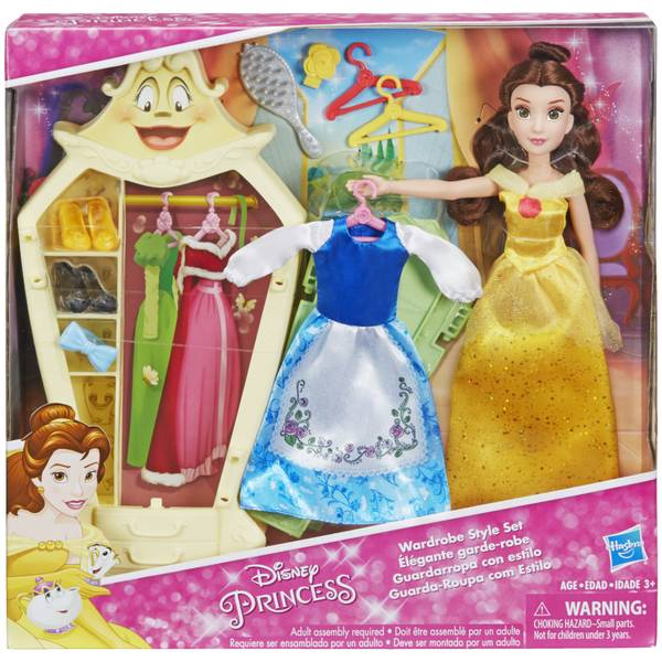 Disney Princess Belle Doll with Wardrobe and Fashion