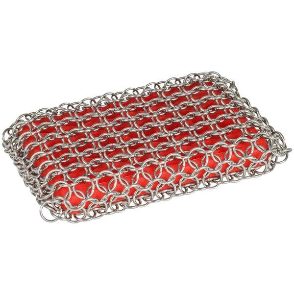 Red Chainmail Scrubbing Pad