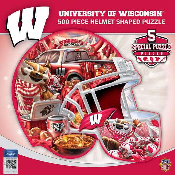 500-Piece Wisconsin Badgers Helmet Puzzle