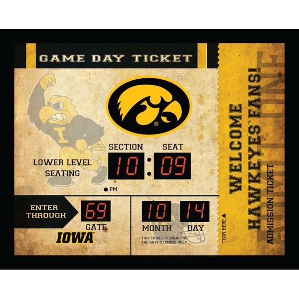 Hawkeyes Bluetooth Scoreboard Wall Clock