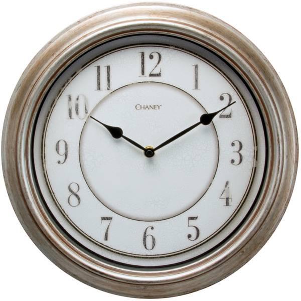 "14"" Rustic Silver Clock"