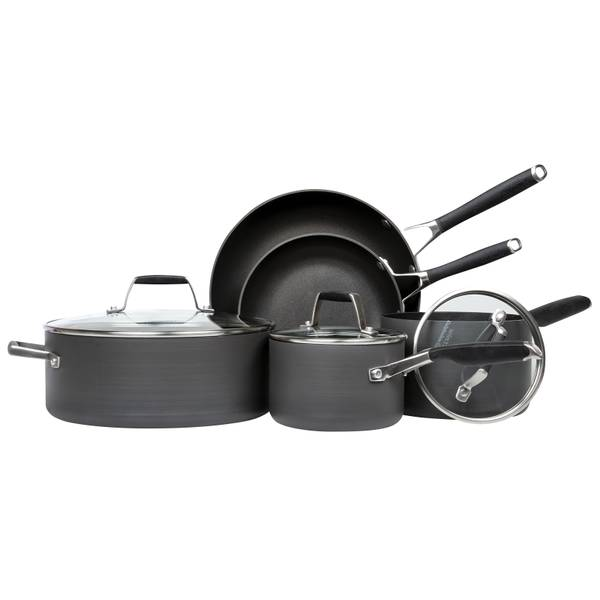 Select 8-Piece Hard Anodized Cookware Set