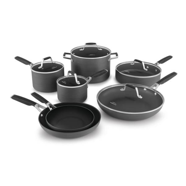 Select 12-Piece Hard Anodized Cookware Set
