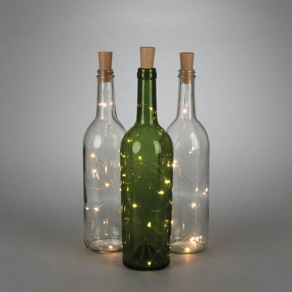 Brown Bottle Stopper Light String
