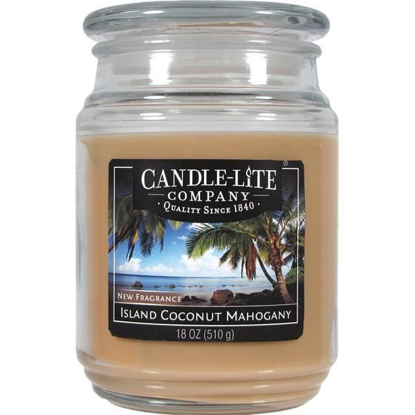 18 oz Island Coconut Mahogany Candle