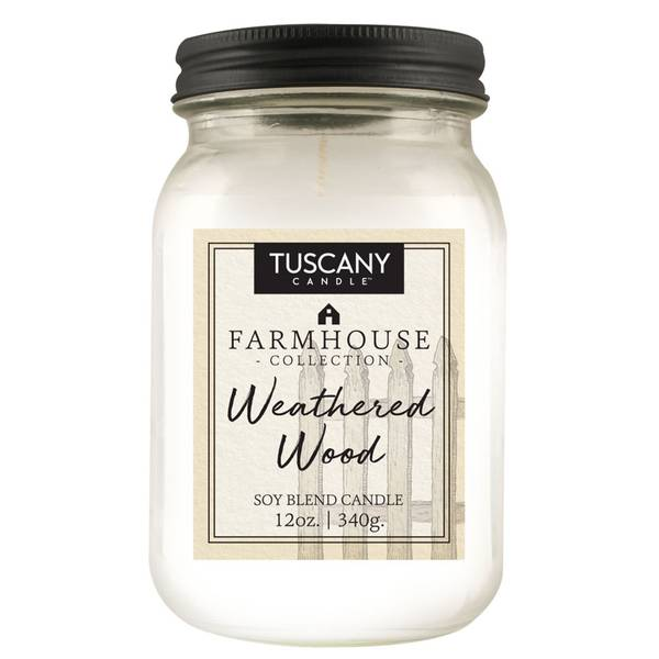 12oz Weathered Wood Farmhouse Candle