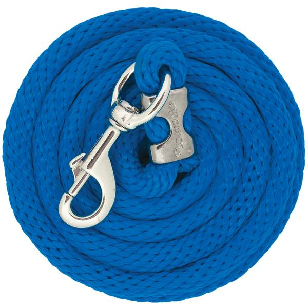 10' Chrome Brass Poly Lead Rope, Blue
