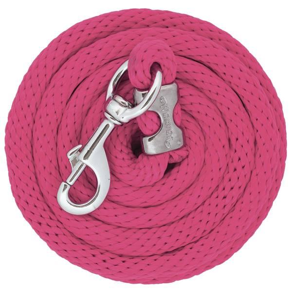 10' Chrome Brass Poly Lead Rope, Blush
