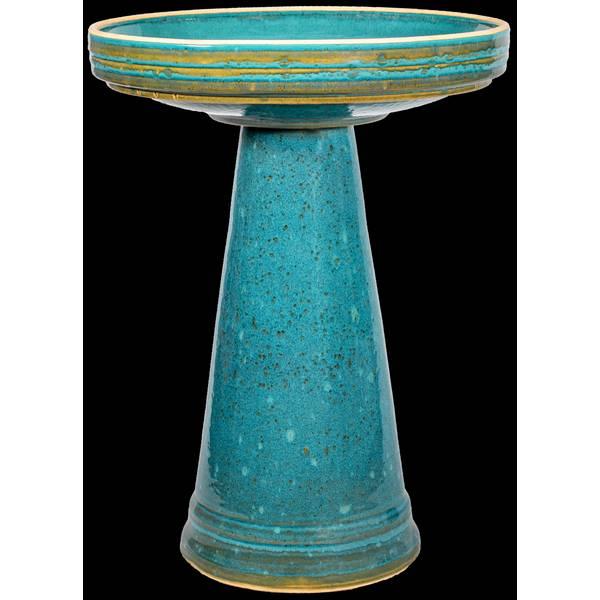 Mosaic Turquoise Simple Elegance Birdbath