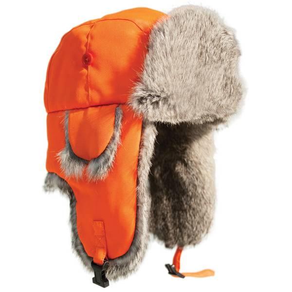 Ardisam Inc. Men's Alaskan Orange Blaze with Grey Fur Hat