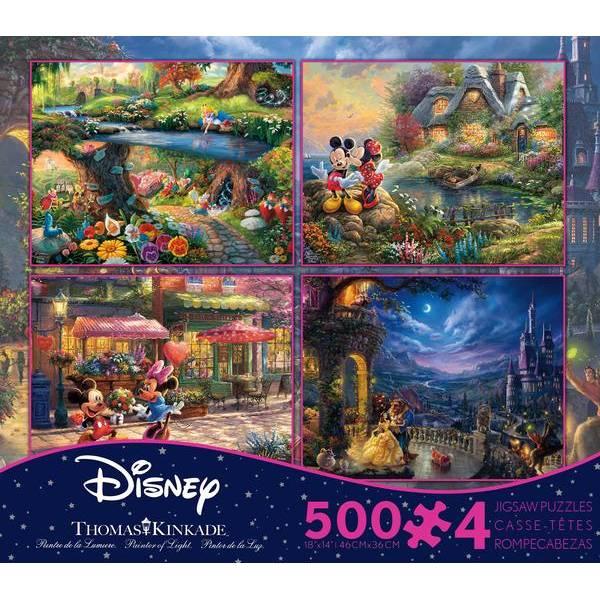 4-in-1 500-Piece Thomas Kinkade Disney Puzzle