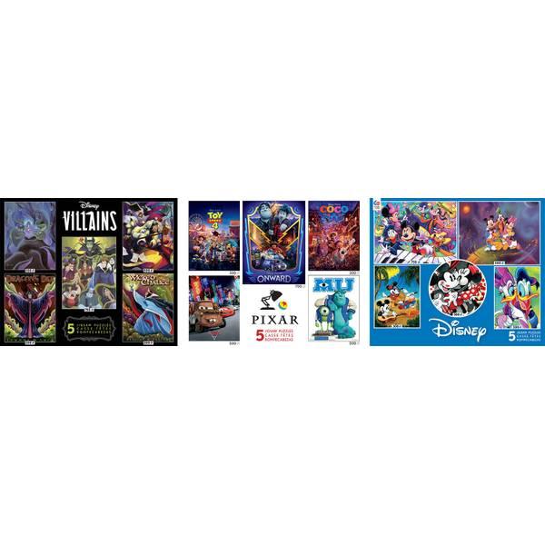 5-in-1 Disney Multi-Pack Puzzle Assortment