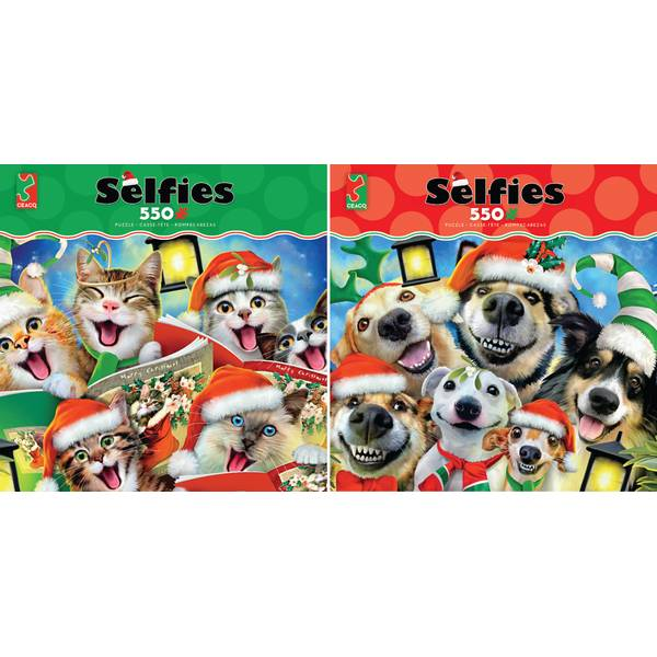 550-Piece Holiday Selfies Puzzle Assorted
