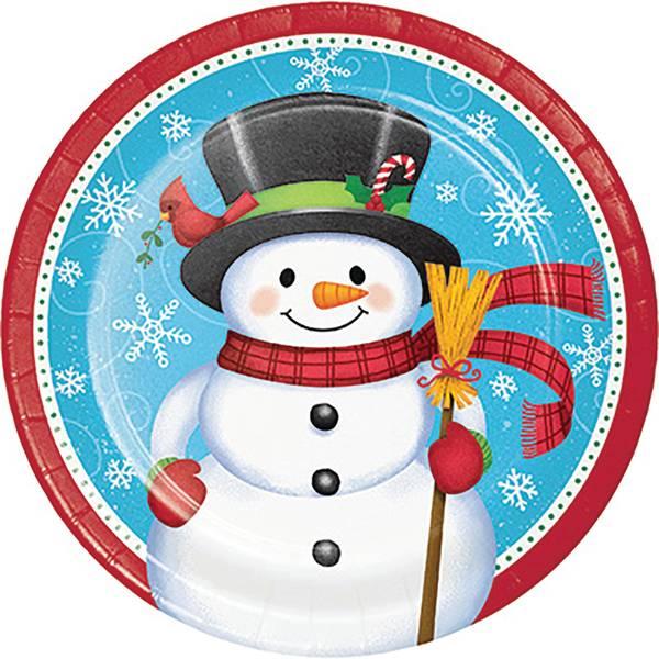 8-Count Snowman Penguin Dinner Plate