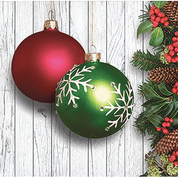 16-Count Christmas Ornaments Beverage Napkin