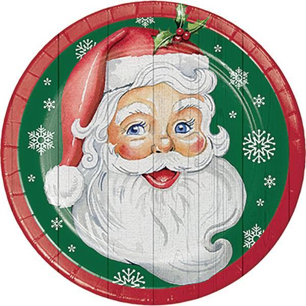8-Count Nostalgic Santa Dinner Plate
