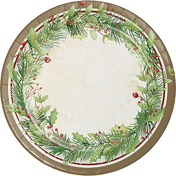 8-Count Winter Wreath Dinner Plate
