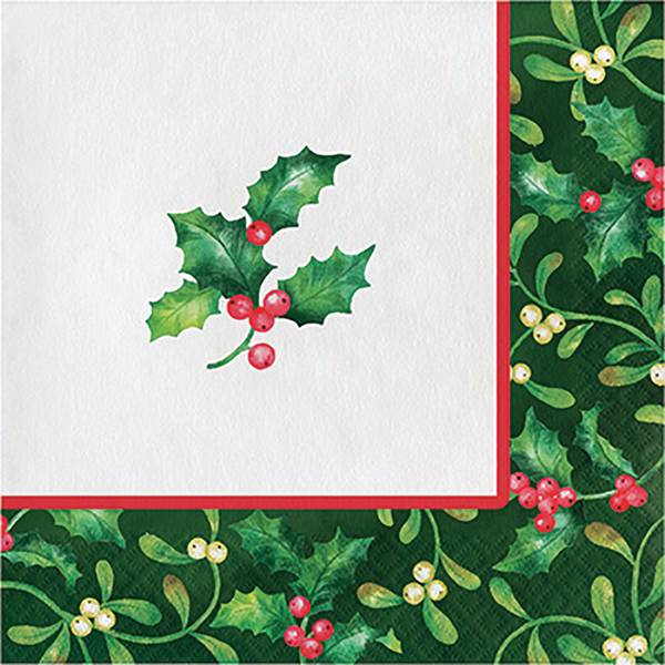 16-Count Holly Berries Lunch Napkin