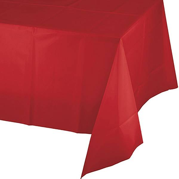 "54"" x 106"" Classic Red Linette Tablecover"