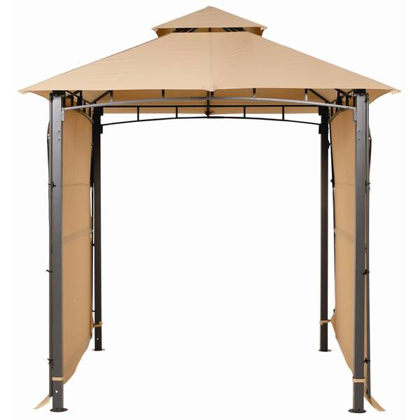 Backyard Express 8' Gazebo with Extended Awnings on