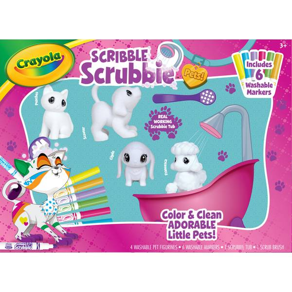 Crayola Scribble Scrubbie Pets Tub Playset
