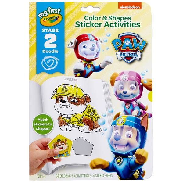 Color & Shapes Paw Patrol Sticker Activities