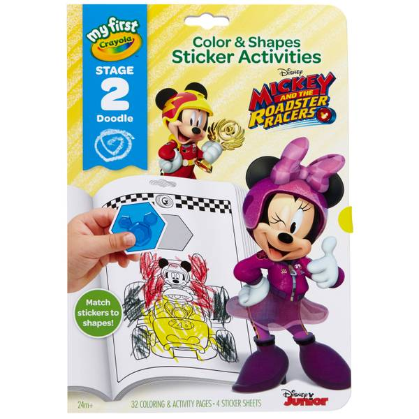 Color & Shapes Minnie Sticker Activities