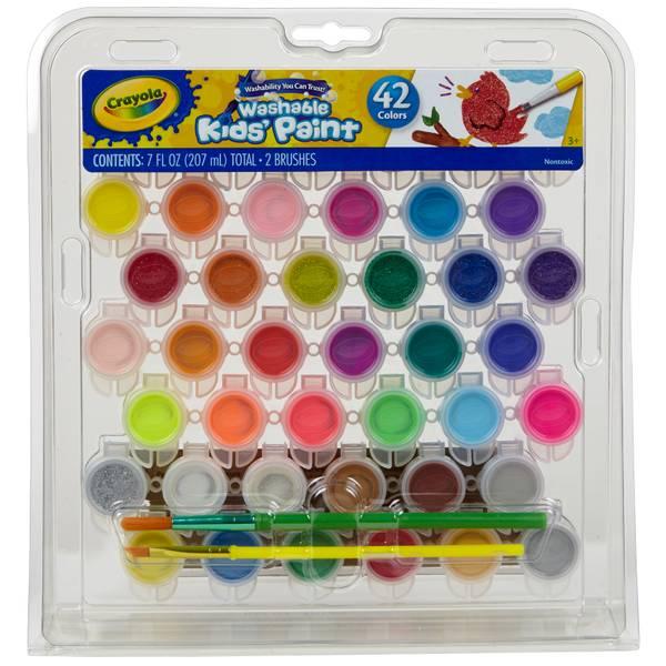 42-Count Crayola Washable Paint Kit