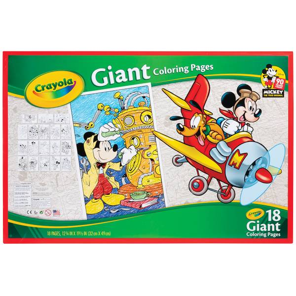 Crayola Mickey Mouse Giant Coloring Pages